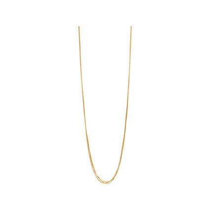 Essentials 18kt Yellow Gold Vermeil Silk 5 Row Necklace 80cm, , hires