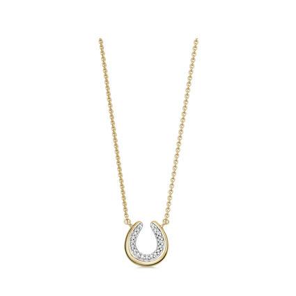 Ascot Diamond Essentials 18kt Yellow Gold Vermeil Horseshoe Necklace, , hires