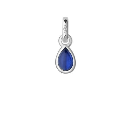 Sapphire & Sterling Silver September Mini Birthstone Charm, , hires