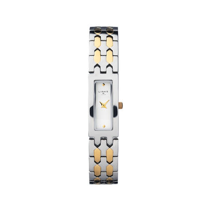 Selene Stainless Steel & Yellow Gold Tone Watch, , hires