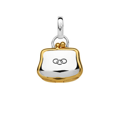 Sterling Silver & 18kt Yellow Gold Vermeil Purse Charm, , hires