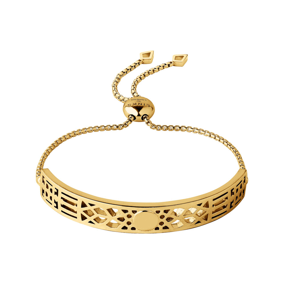 Timeless 18kt Yellow Gold Vermeil Toggle Bracelet, , hires