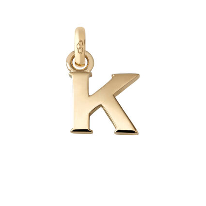 18kt Yellow Gold K Charm, , hires