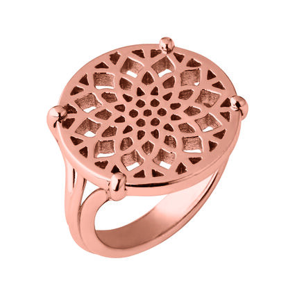 Timeless 18kt Rose Gold Vermeil Coin Ring, , hires