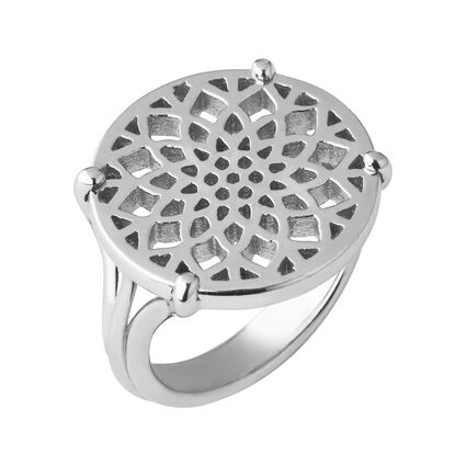 Timeless Sterling Silver Coin Ring, , hires