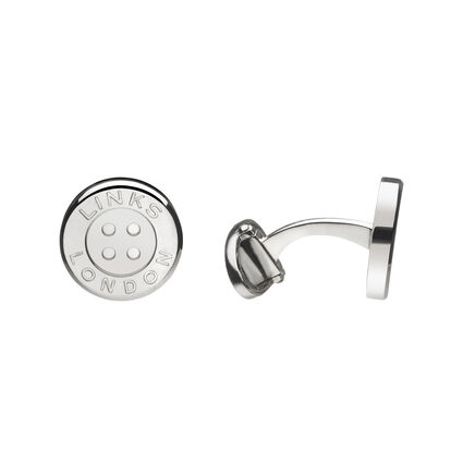Sterling Silver Button Cufflinks, , hires