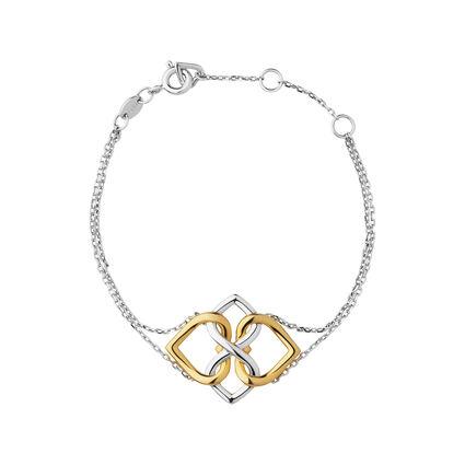 18K Yellow Gold Vermeil & Sterling Silver Infinite Love Bracelet, , hires