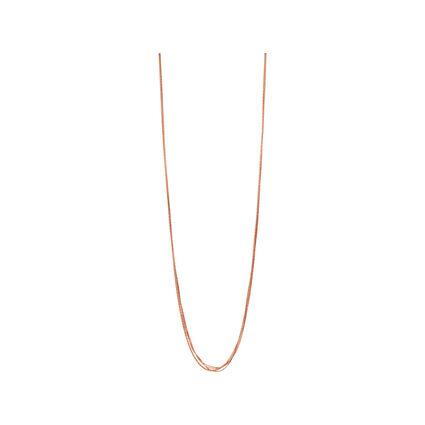 Essentials 18kt Rose Gold Vermeil Silk 5 Row Necklace 80cm, , hires
