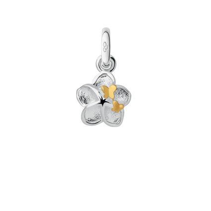 Sterling Silver Mini Flower and Butterfly Charm, , hires