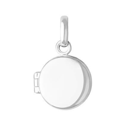 Sterling Silver Locket Mini Charm, , hires
