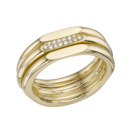 20/20 Classic 18kt Yellow Gold & Diamond Ring , , hires