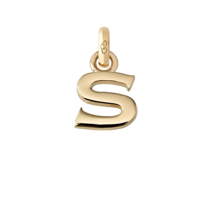 18kt Yellow Gold S Charm, , hires
