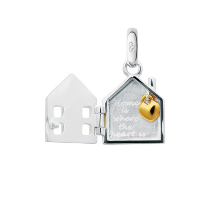 Sterling Silver Home is Where the Heart Is Charm, , hires