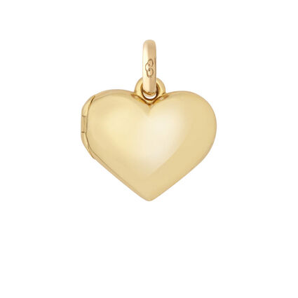 18kt Yellow Gold Heart Locket Charm, , hires