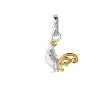 Sterling Silver & 18kt Yellow Gold Vermeil Chinese Zodiac Rooster Charm, , hires