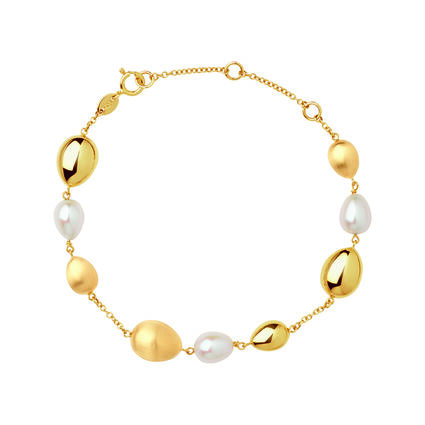 Hope 18kt Yellow Gold & Pearl Bracelet, , hires