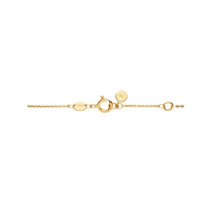 Diamond Essentials 18kt Yellow Gold Vermeil & Pave Heart Necklace, , hires
