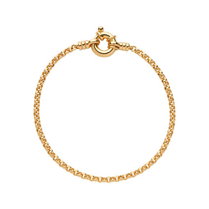 18kt Yellow Gold Vermeil Mini Belcher Bracelet, , hires