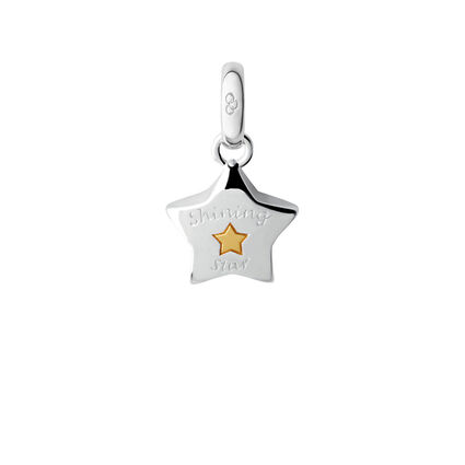 Sterling Silver Shining Star Charm, , hires