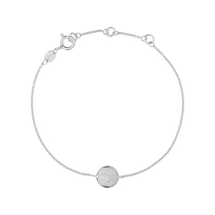 Diamond Essentials Sterling Silver & Pave Round Bracelet, , hires