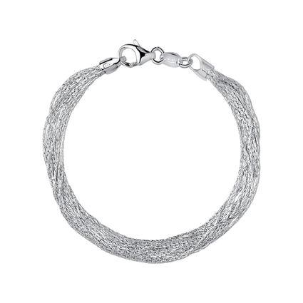 Essentials Sterling Silver Silk 10 Row Bracelet, , hires