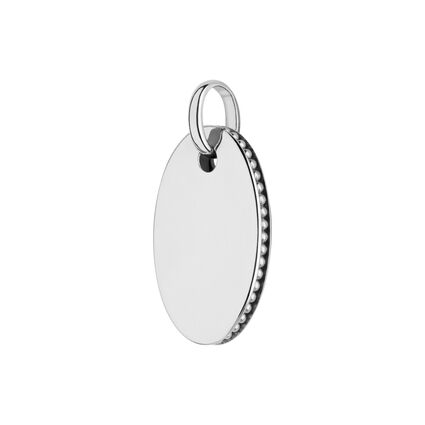 Narrative Sterling Silver Small Oval Disc Pendant, , hires