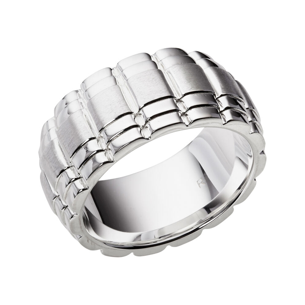 Venture Mens Sterling Silver Ring, , hires