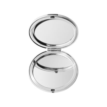 Silver Plate Round Mirror, , hires