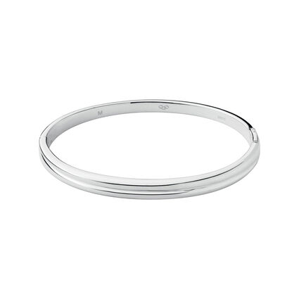 Hope Sterling Silver Hinged Bangle, , hires